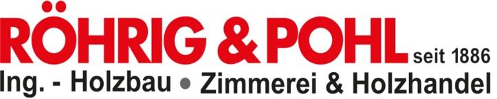 Röhrig & Pohl Ingenieur-Holzbau, Zimmerei und Holzhandel LOGO